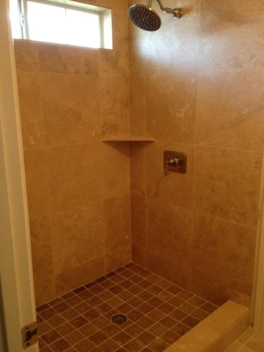 Travertine Shower | Shelton Tile